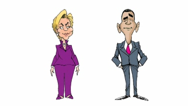 Barrack and Hillary Clinton